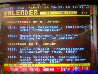 Adrianos Geburtsjahr im Kabel 1 Teletext