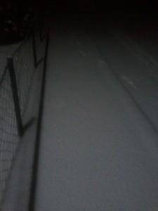Schnee am Montag morgen